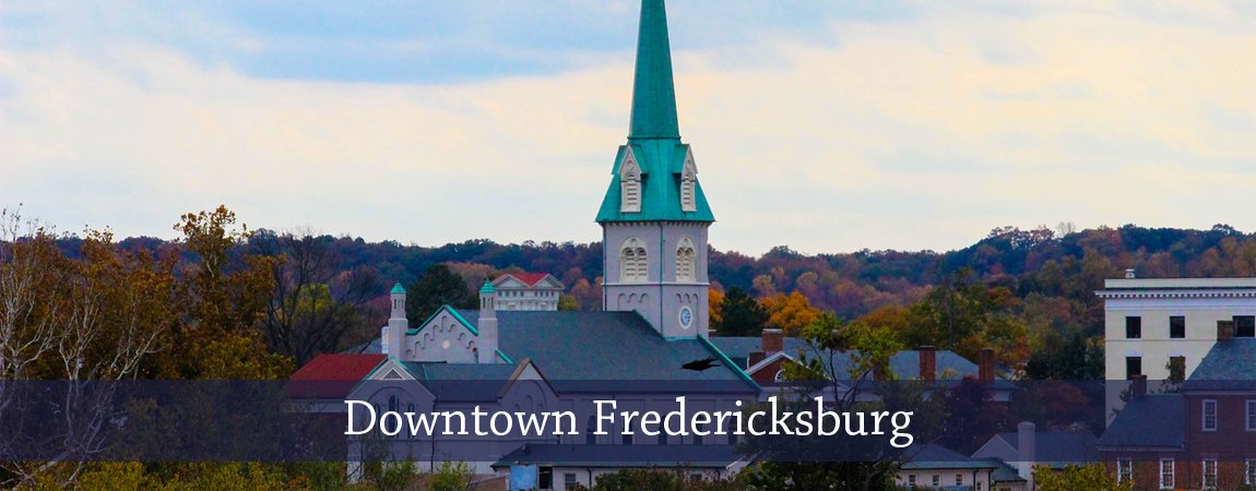 Downtown Fredericksburg Cityscape Church